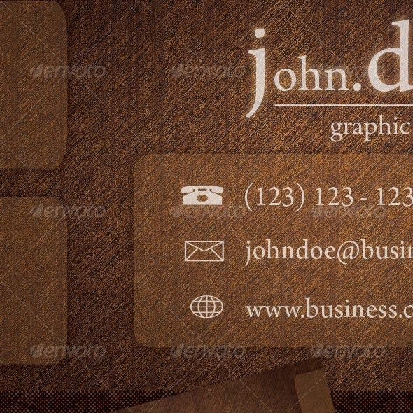 'Rough Wood' Business Card