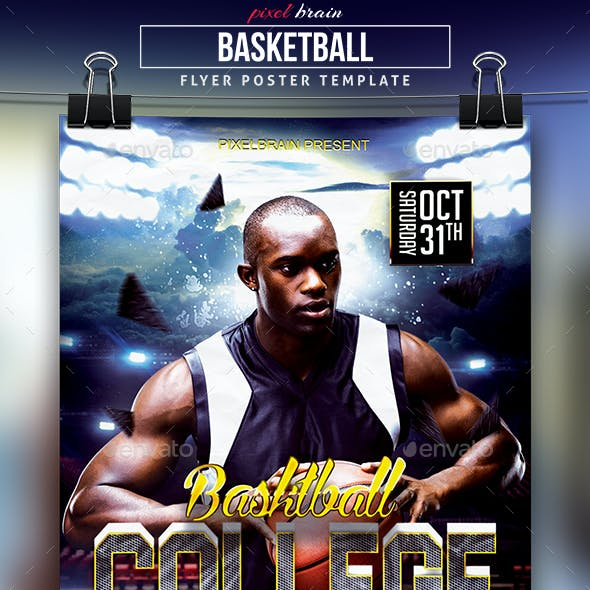 Basketball College Flyer Template