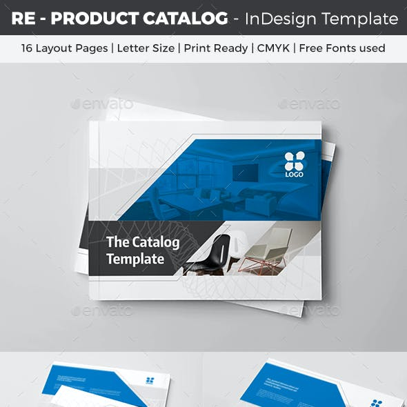 RE - Product Catalog InDesign Template