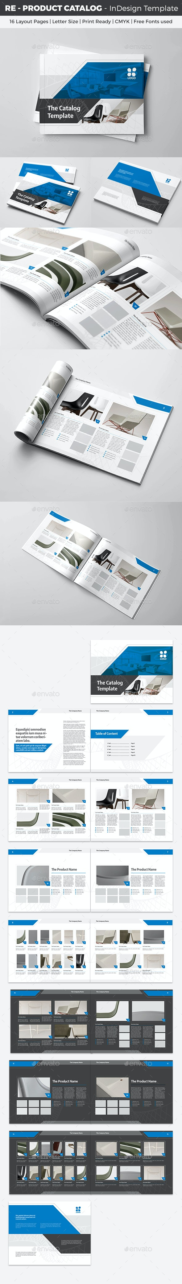 RE - Product Catalog InDesign Template - Catalogs Brochures