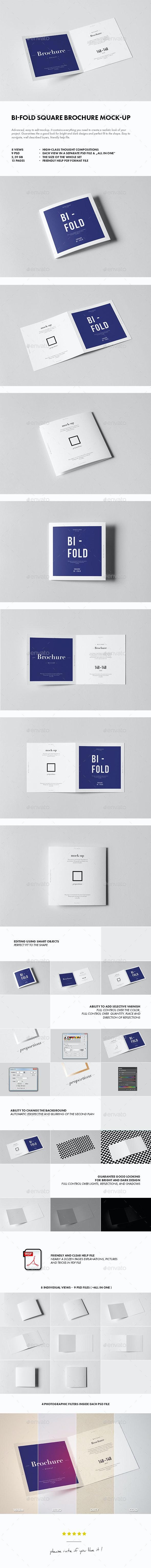Bi-Fold Square Brochure Mock-up - Brochures Print