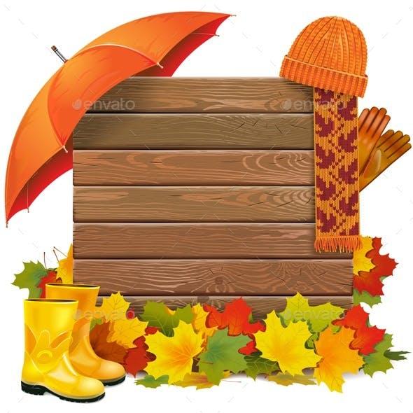 Vector Autumn Board