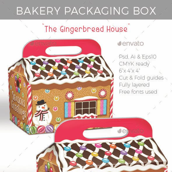 Gingerbread House Cake & Cookies Bakery Box