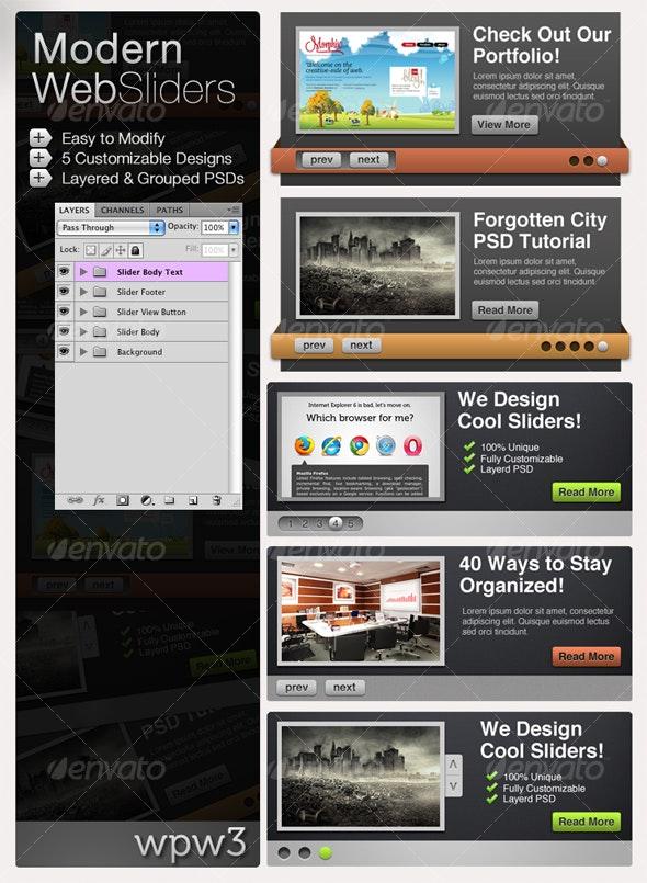 Modern Web Sliders - Web Elements