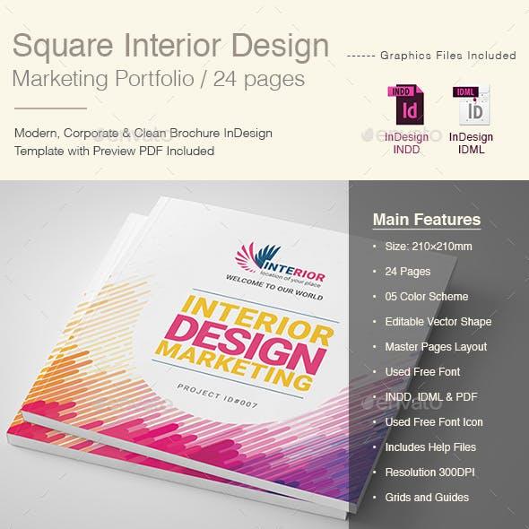Square Intiduir Dsigan Portfolio Template