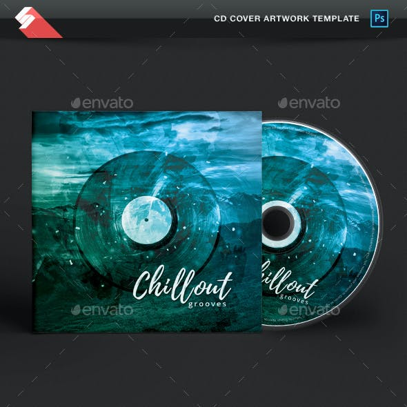 Chillout Grooves - Music CD Cover Artwork Template