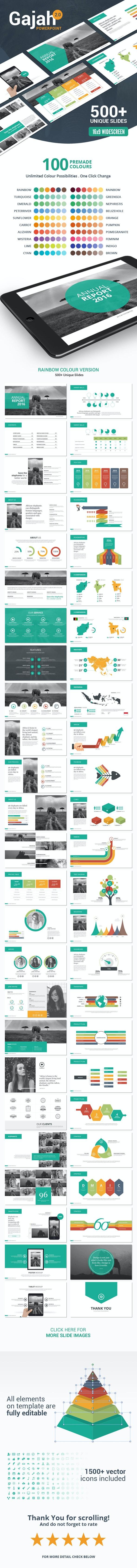 Gajah   PowerPoint Template - PowerPoint Templates Presentation Templates