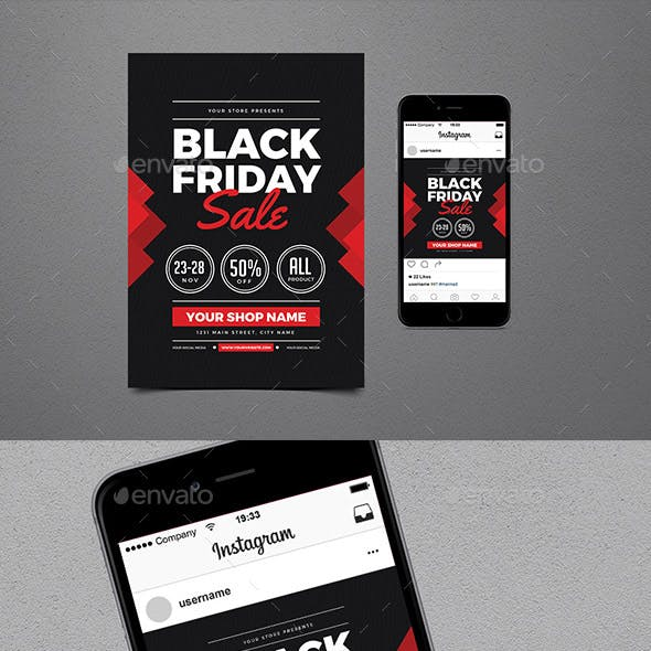Black Friday Sale Flyer + Instagram post Vol 02