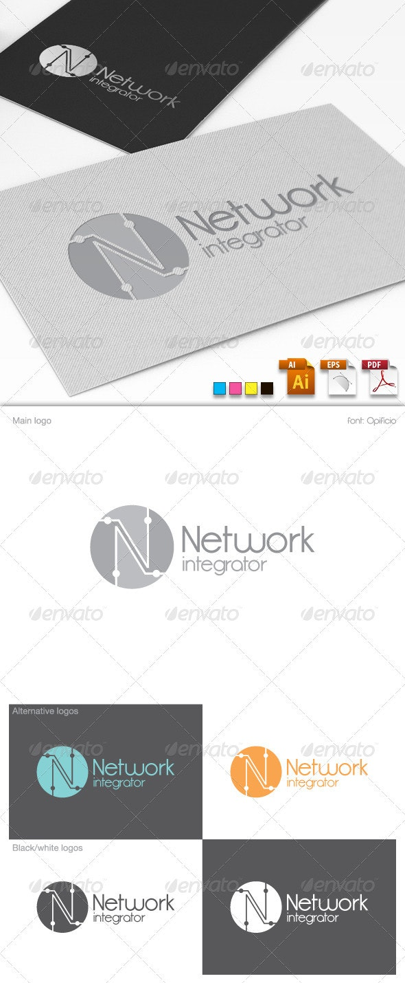 Network Integrator Logo Template - Letters Logo Templates