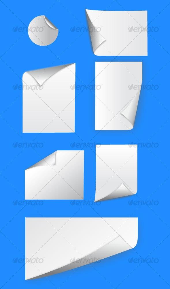 Paper Curl Templates - Decorative Vectors