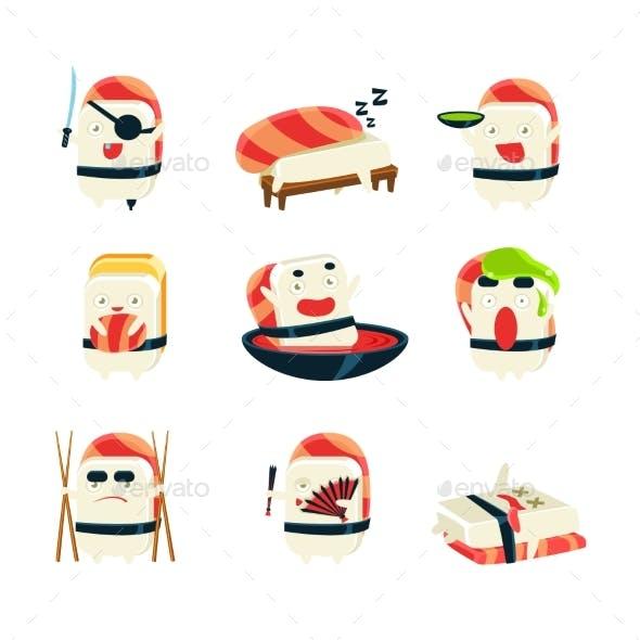 Maki Sushi Character Japan Themed Activities