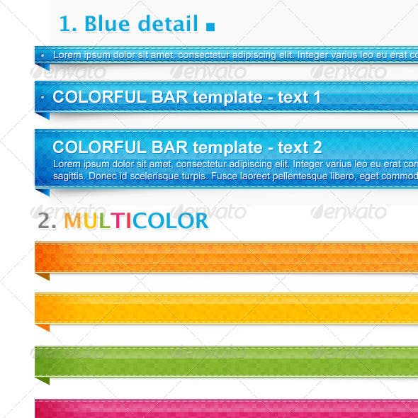 Multi Colored Bar