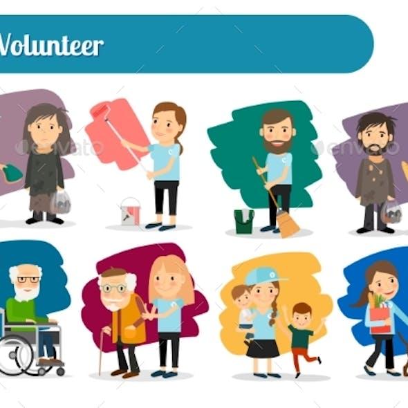 Volunteer Characters Big Set