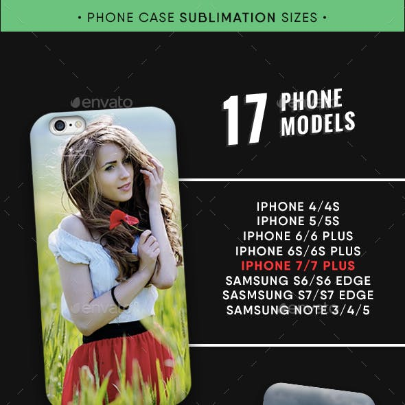 17 Phone Case Models Sublimation Dimensions