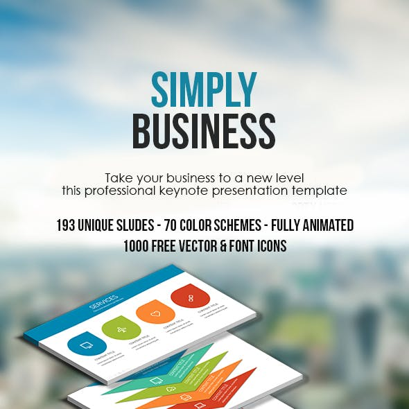 Simply Business Keynote Presentation Template