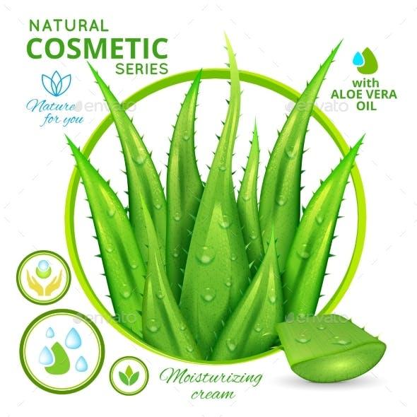 Aloe Vera Natural Cosmetics Poster