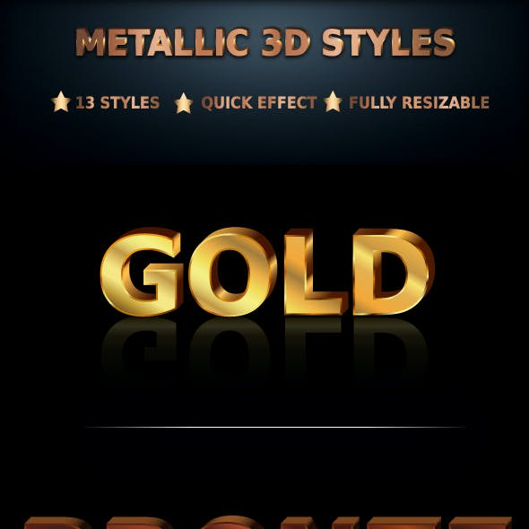 Metallic 3D Styles
