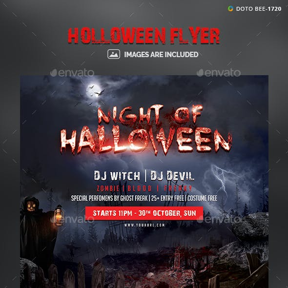 Halloween Flyer Template - Images Included