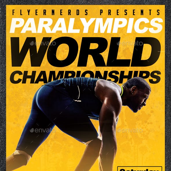 Paralympics World Championships 2016 Sports Flyer