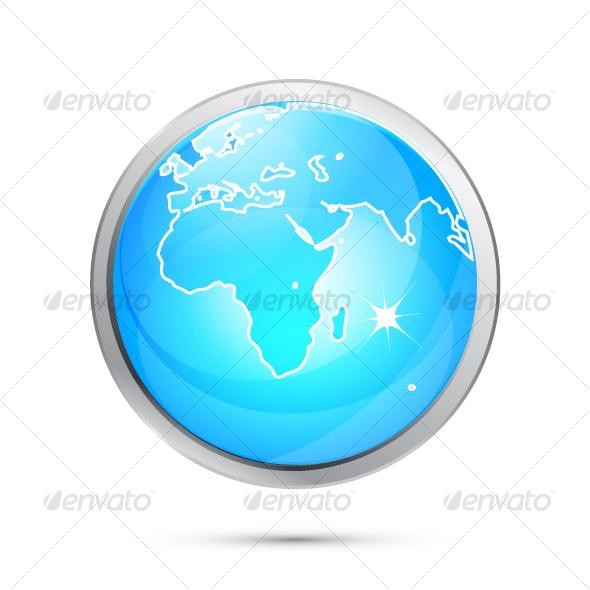 Blue Earth globe design - Technology Conceptual