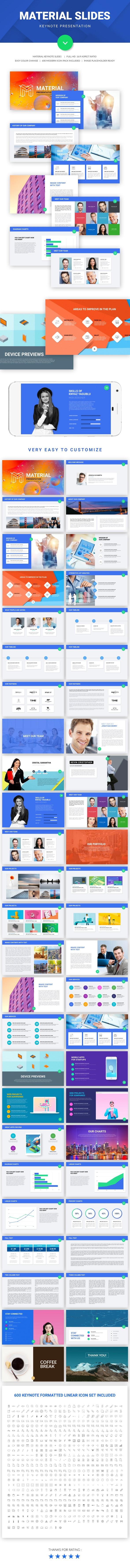 Material Slide Keynote Presentation Template - Keynote Templates Presentation Templates