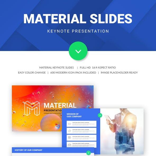 Material Slide Keynote Presentation Template