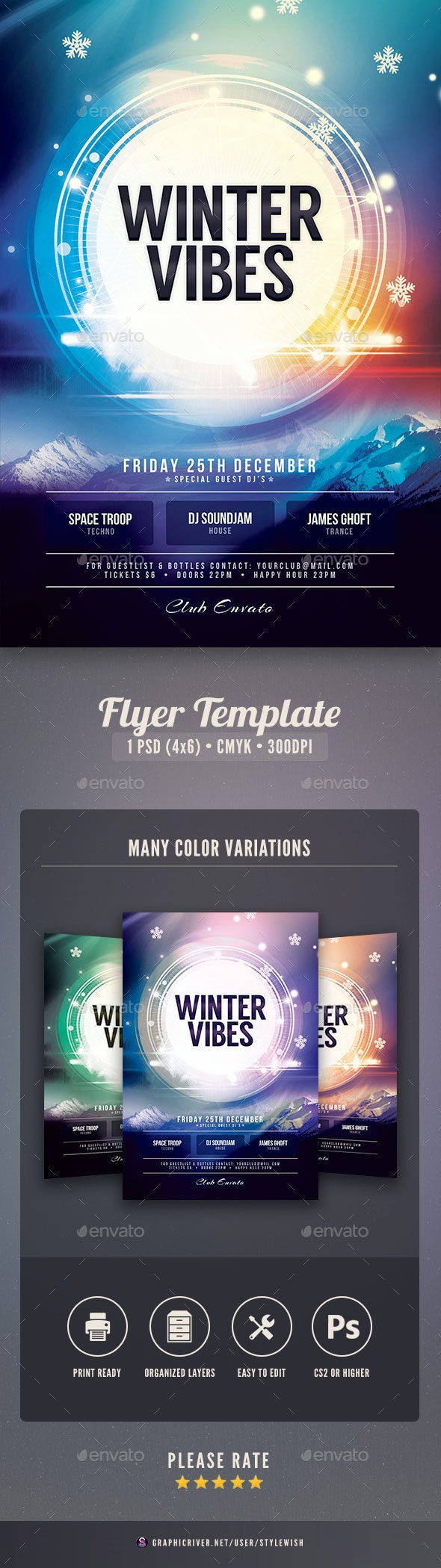 Winter Vibes Flyer - Clubs & Parties Events