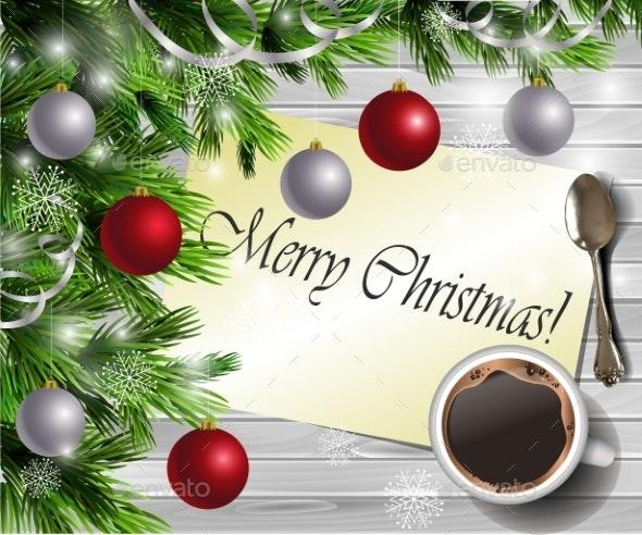 Christmas New Year Design Wooden Background - Christmas Seasons/Holidays