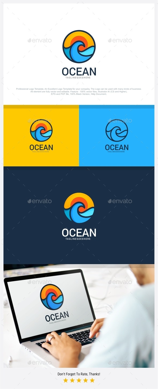 Ocean - Travel Logo - Nature Logo Templates