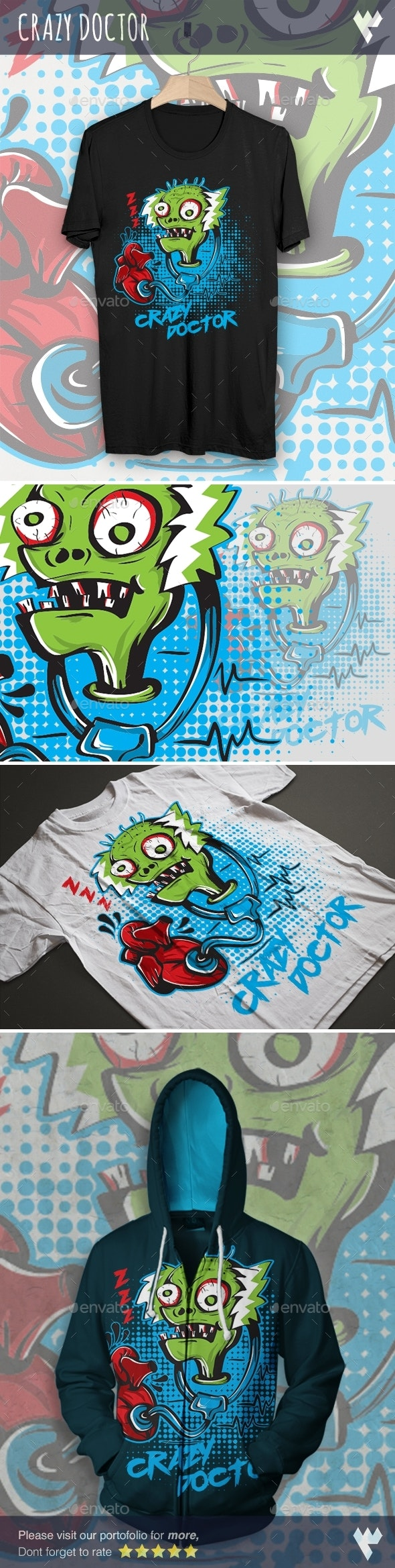 Crazy Doctor Zombie - Funny Designs