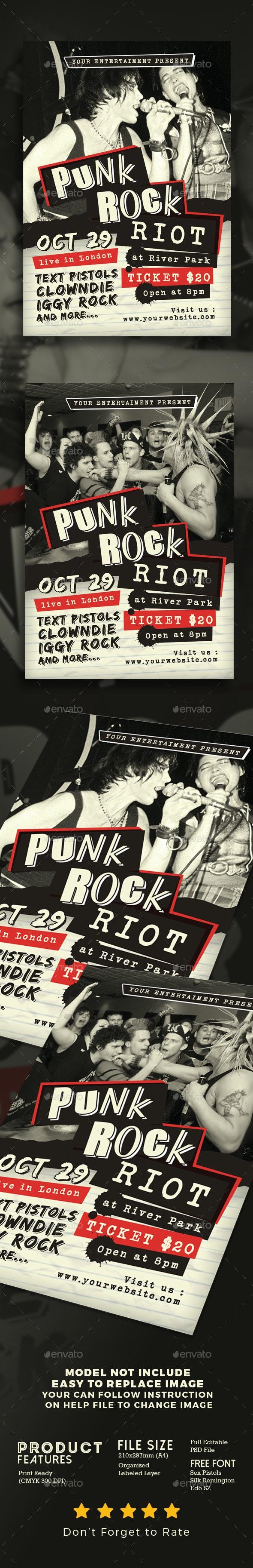 Punk Rock Concert - Events Flyers