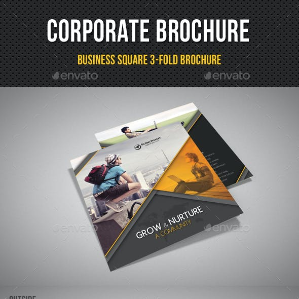 Corporate Business Square 3-Fold Brochure V07