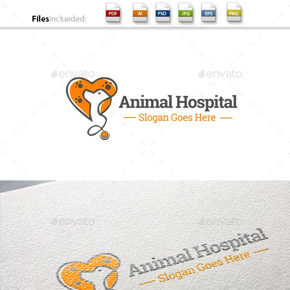 Animal Hospital/Pet Care Logo Template