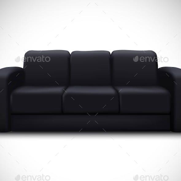 Interior Mockup Realistic Element Sofa Poster