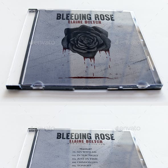 Bleeding Rose Album Cover Template