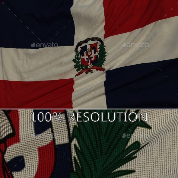 Background Flag of The Dominican Republic
