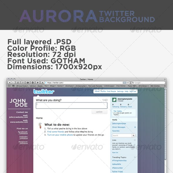 Aurora Twitter Background