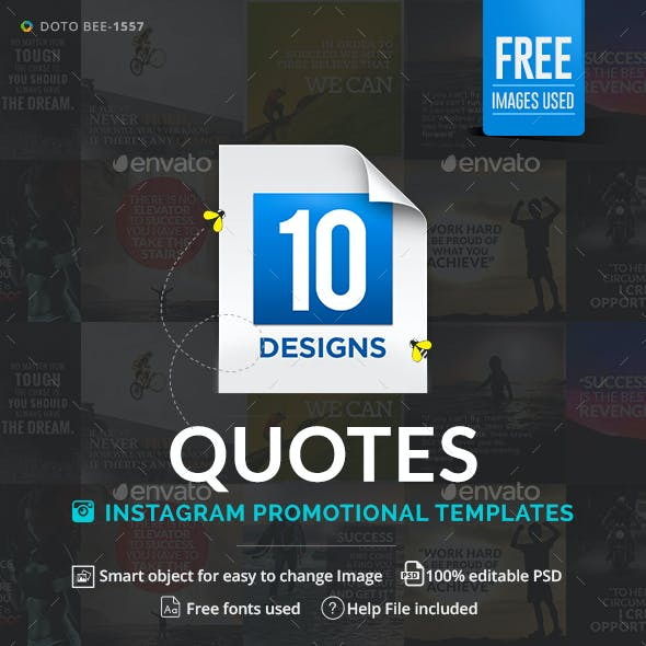 Quotes Instagram Templates - 10 Designs