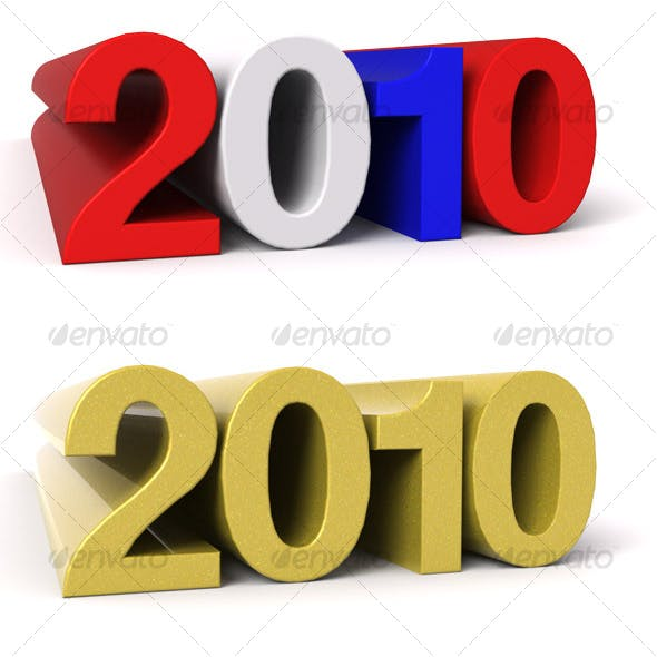2010 - 3D Numbers 10 Pack
