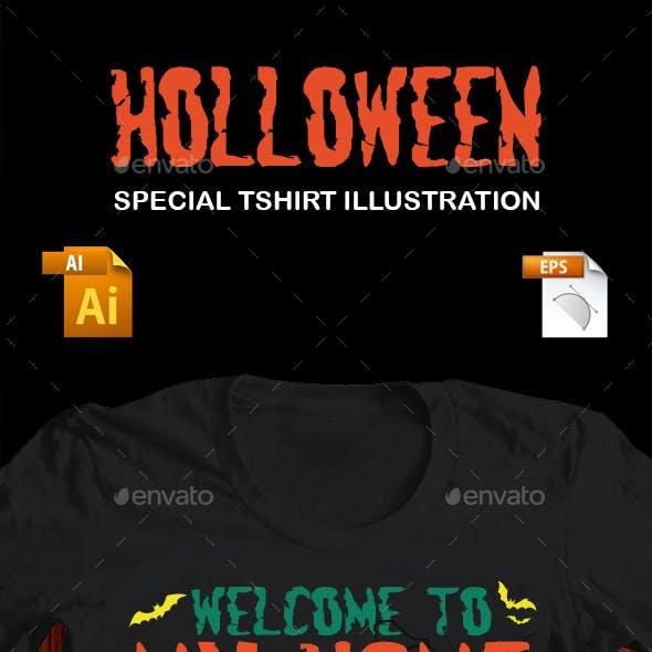 Holloween Special  T-Shirt Illustration