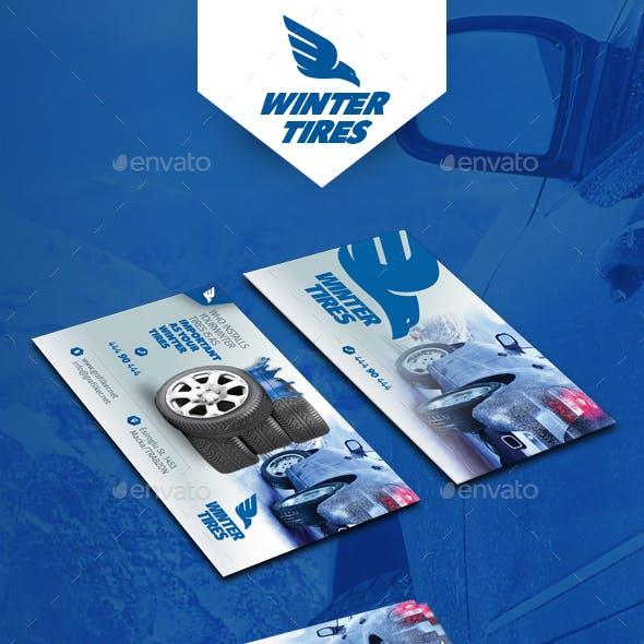 Automobile Tire Business Card Templates
