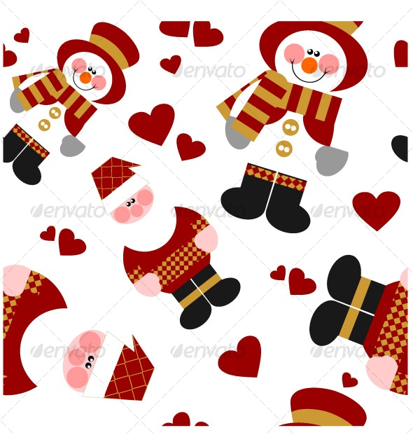 Seamless xmas  ornament in color 66 - Patterns Decorative