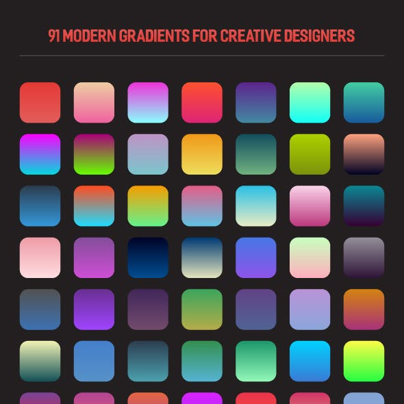 91 Modern Gradients for Creative Designers