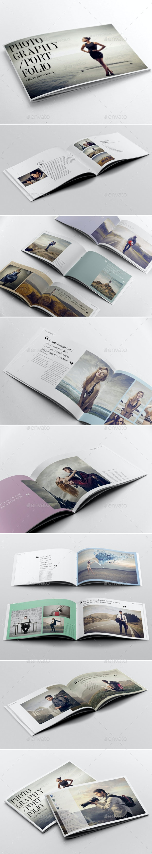 Photography Portfolio Template - Brochures Print Templates