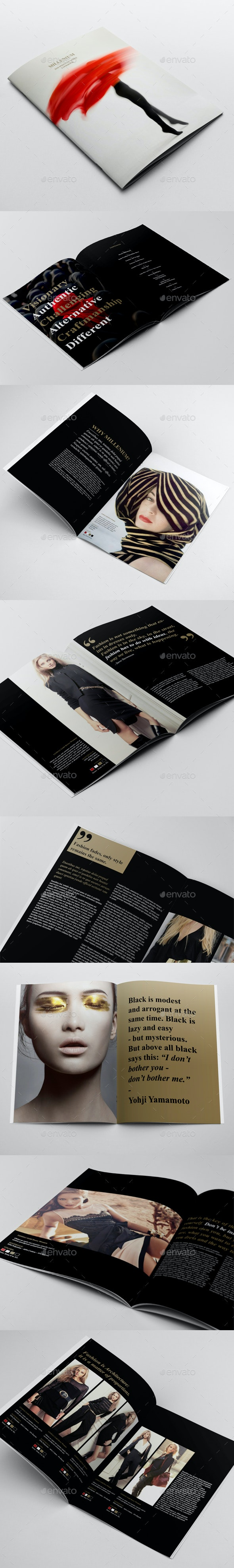 Fashion Catalogue / Brochure Template - Brochures Print Templates