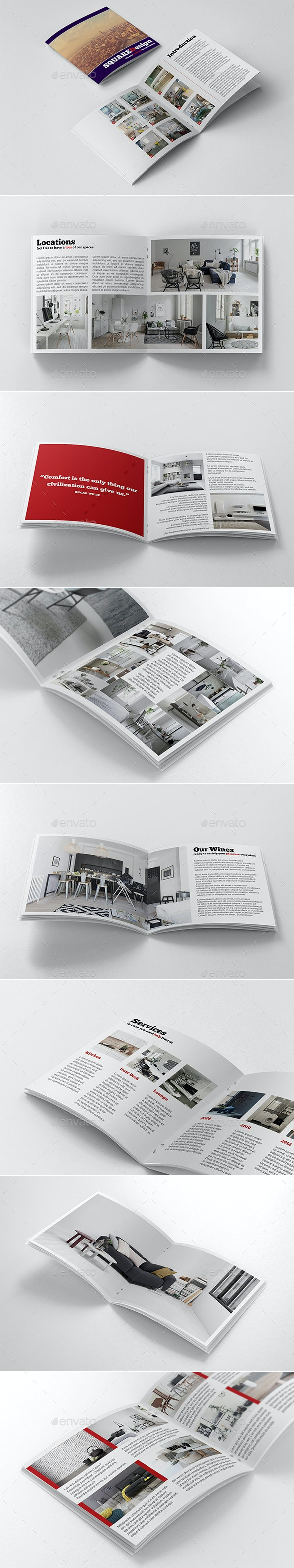 Square Design Booklet - Catalogs Brochures