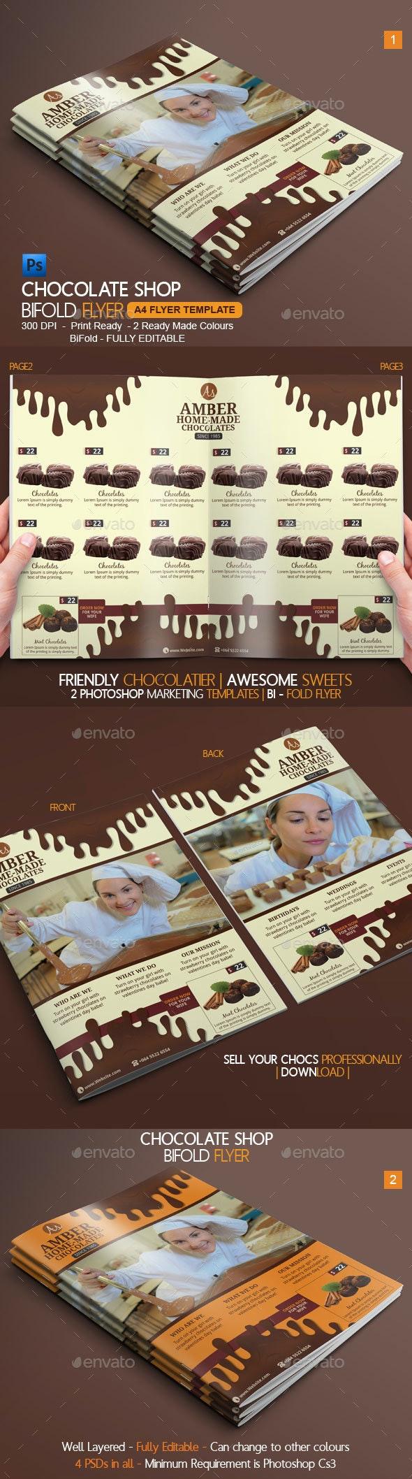 Chocolate Bi-Fold Brochure - Catalogs Brochures