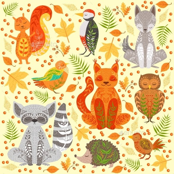 Forest Animals Covered In Creative Ornaments