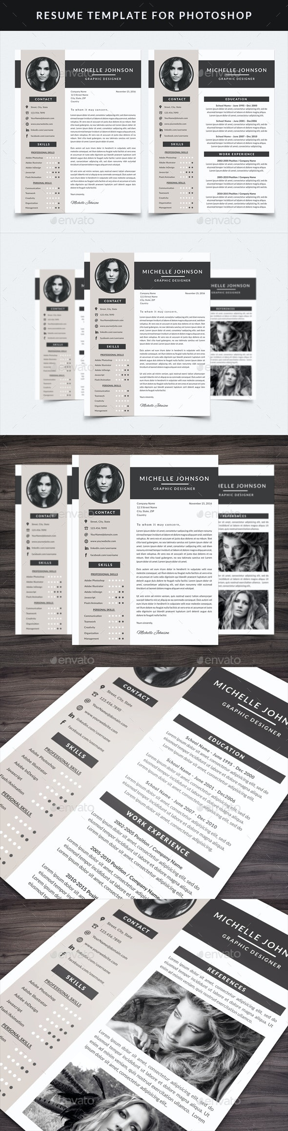 Resume Template for Photoshop - Resumes Stationery
