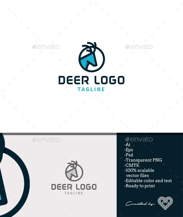 Deer Logo Template - Animals Logo Templates